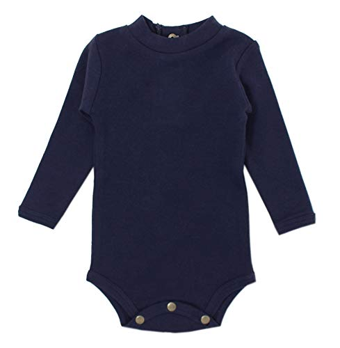 L'ovedbaby Unisex Baby Organic Mock-Neck Bodysuit – The Vintage Collection