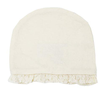 L'ovedbaby Baby Girls Organic Lace Ruffle Cap - The Vintage Collection