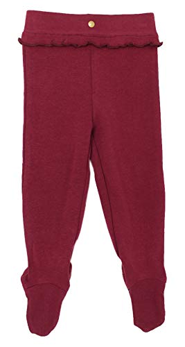 L'ovedbaby Baby Girls Organic Ruffle Footed Legging/Pants – Vintage Collection