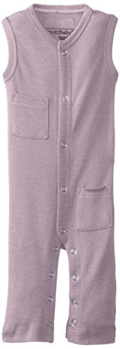 L'ovedbaby Baby Girl Organic Sleeveless Overall, Lavender, 0/3 Months
