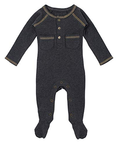 L'ovedbaby Unisex Baby Organic Footed Pocket Jumpsuit – Chalkboard Collection