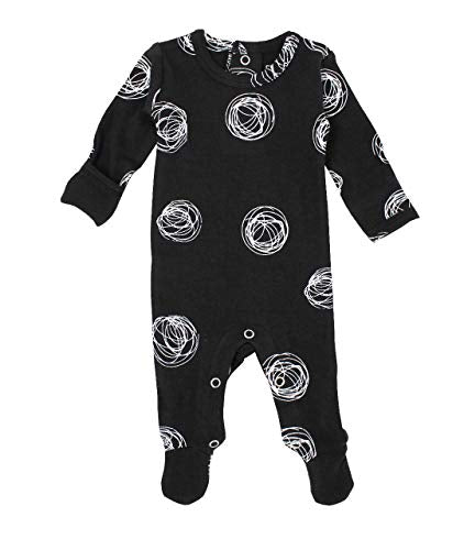 L'ovedbaby Organic Baby Footie Graphic Back-Snapped Footed Overall
