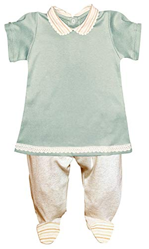 Marina Cabrera Baby Girl 2-Piece Top & Footed Pant Set 100% Organic Cotton