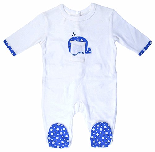Empress Arts Unisex-Baby 100% Cotton Footed Romper (6-12 Months, Splish-Splash Willy)