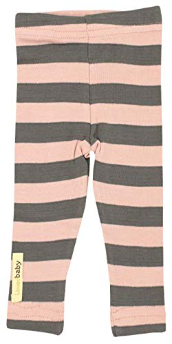 L'ovedbaby Organic Leggings - Mauve/Gray Stripe