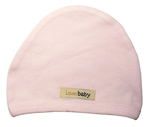 L'ovedbaby Unisex-Baby Organic Infant Cap (0-3 Months, Blush)