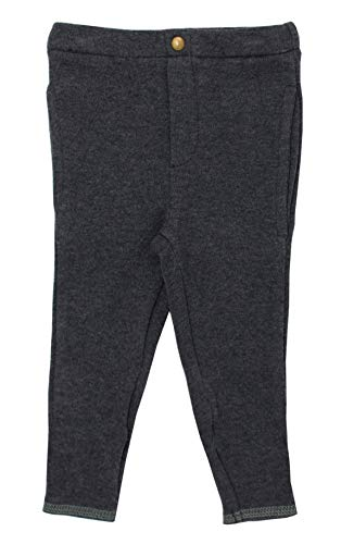 L'ovedbaby Unisex Baby Heather Gray Organic Cuffed Pant – Chalkboard Collection