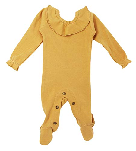 L'ovedbaby Baby Girls Organic Cotton Ruffle Footie – The Vintage Collection