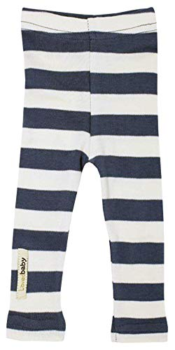 L'ovedbaby Organic Leggings - Navy/Light Gray Stripe