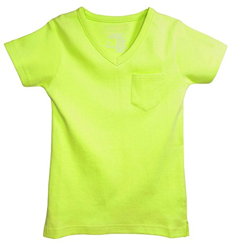 L'ovedbaby Organic Cotton V-Neck Short-Sleeve Baby T-Shirt (0-3 Months, Lime)