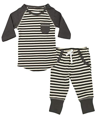 L'ovedbaby Organic Cotton Unisex Baby Long-Sleeve Shirt/Pant Set