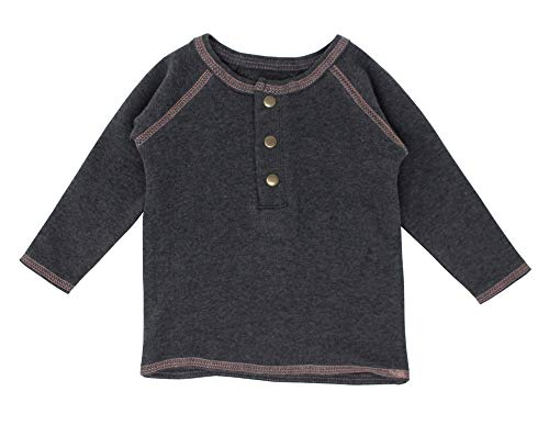 L'ovedbaby Unisex Baby Organic Raglan Henley L/S Shirt – Chalkboard Collection