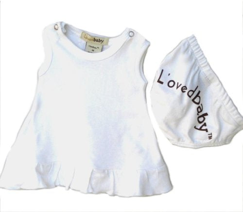 L'ovedbaby Baby-Doll Dress Color: Bright White, Size: 6-9 Months