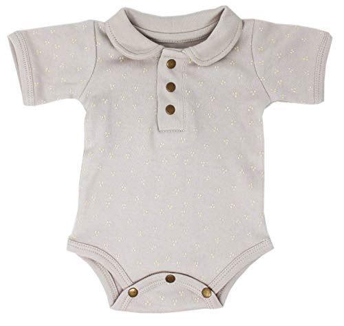 L'ovedbaby Organic Baby Short Sleeve Polo-Style Bodysuit - Vintage Collection