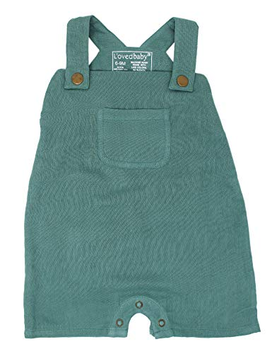 L'ovedbaby Baby Boy or Girl Organic Muslin Overall Shorts –The Muslin Collection