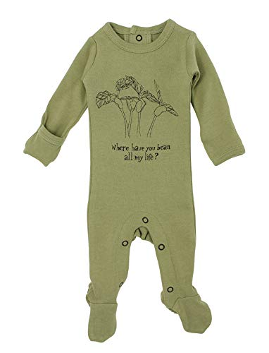 L'ovedbaby Unisex Baby Organic Back-Snapped Graphic Footie – Li'l Punkins