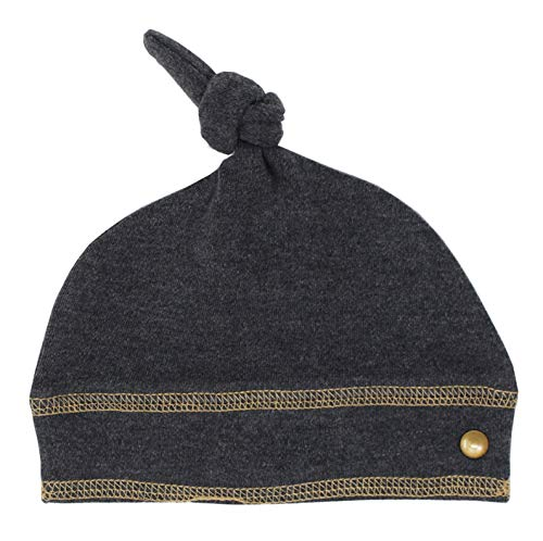 L'ovedbaby Unisex Baby Organic Banded Top-Knot Hat - Chalkboard Collection