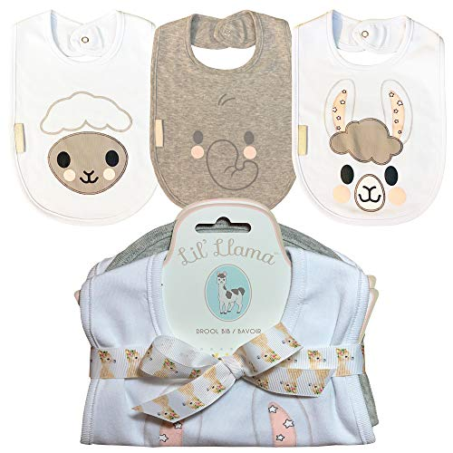 Lil' Llama Large Drool Bibs 3 Pack Gift Set