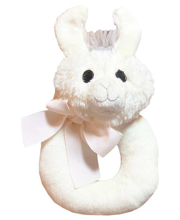 Lil' Llama Baby Rattle Plush Ring Teether Toy (Lil Llama)