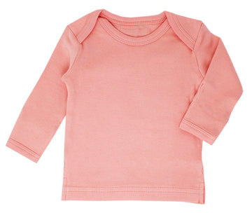 L'ovedbaby Organic Long-Sleeve Shirt - Coral