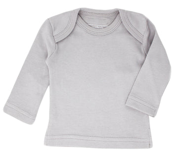 L'ovedbaby Organic Long-Sleeve Shirt - Light Gray