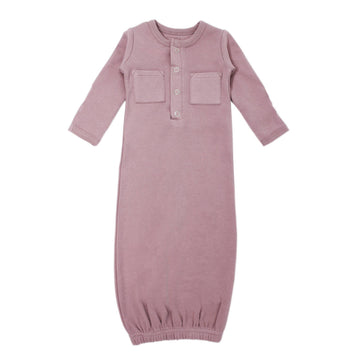 L'ovedbaby Organic Newborn Gown - Lavender
