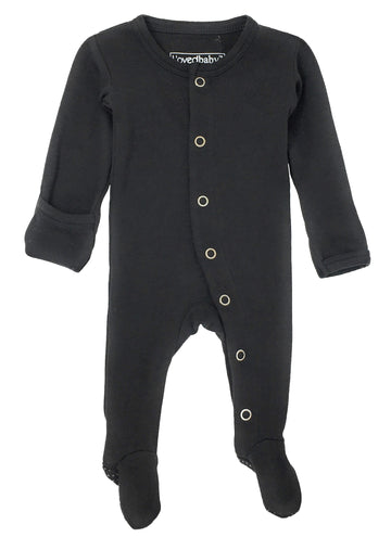 L'ovedbaby Organic Cotton Footie - Black