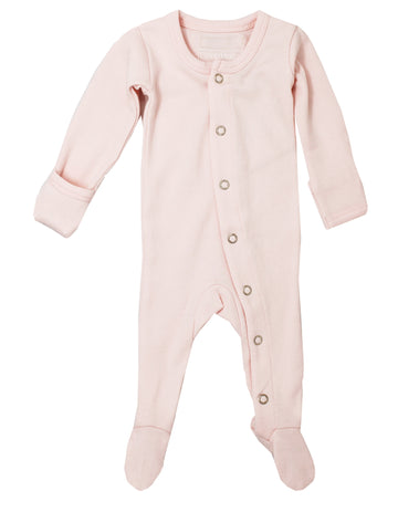 L'ovedbaby Organic Cotton Footie - Blush