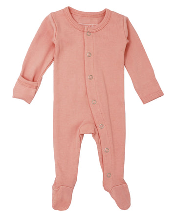 L'ovedbaby Organic Cotton Footie - Coral