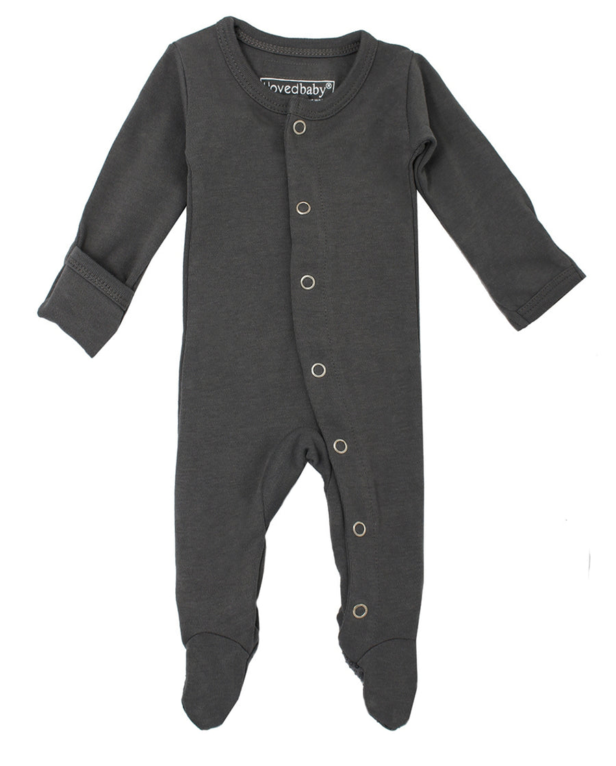 L'ovedbaby Organic Cotton Footie - Gray