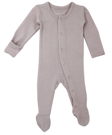 L'ovedbaby Organic Cotton Footie - Light Gray