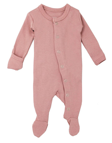 L'ovedbaby Organic Cotton Footie - Mauve