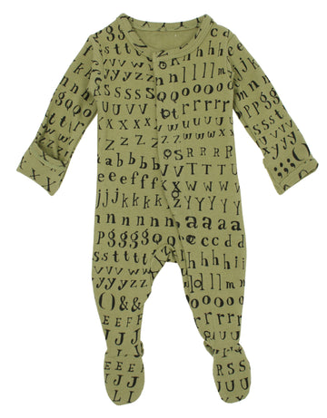 L'ovedbaby Organic Cotton Footie - Sage Letters