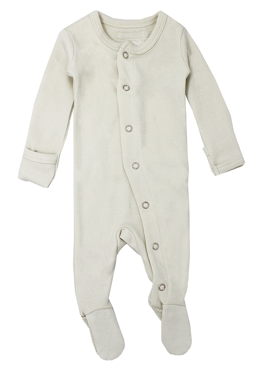 L'ovedbaby Organic Cotton Footie - Stone