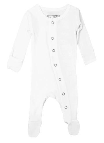 L'ovedbaby Organic Cotton Footie - White