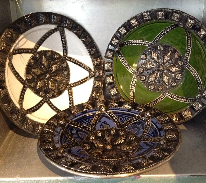 2. moroccan embellished plates