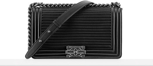 Boy Chanel flap bag pleated lambskin leather