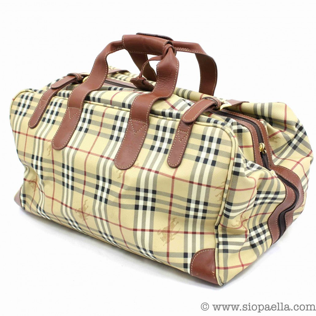 Burberry Checked Luggage