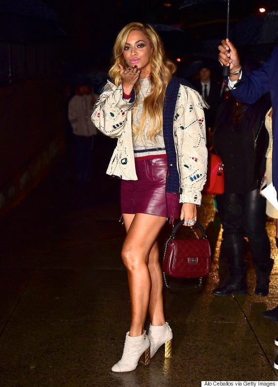 NEW YORK, NY - MARCH 31: Beyonce is seen on March 31, 2015 in New York City. (Photo by Alo Ceballos/GC Images)