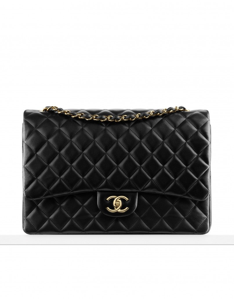 CHANEL Classic flap bag lambskin and gold metal siopaella designer exchange
