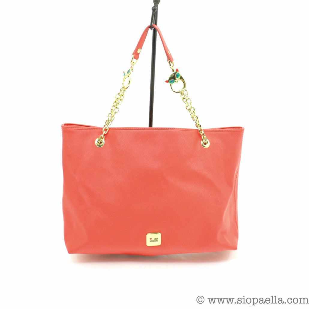 love-moschino-coral-textured-leather-tote-siopaella