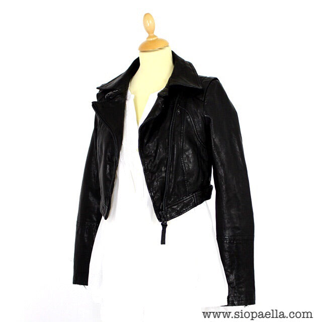 52358aef3ef716 ... coupon code for mackage black leather cropped jacket 0d737 d0fab