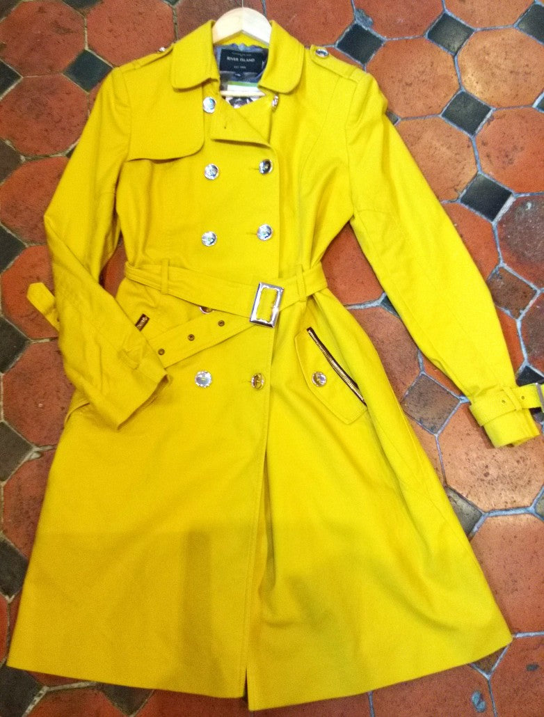 River Island yellow trench coat