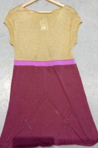 tim ryan gold purple yellow trend dress