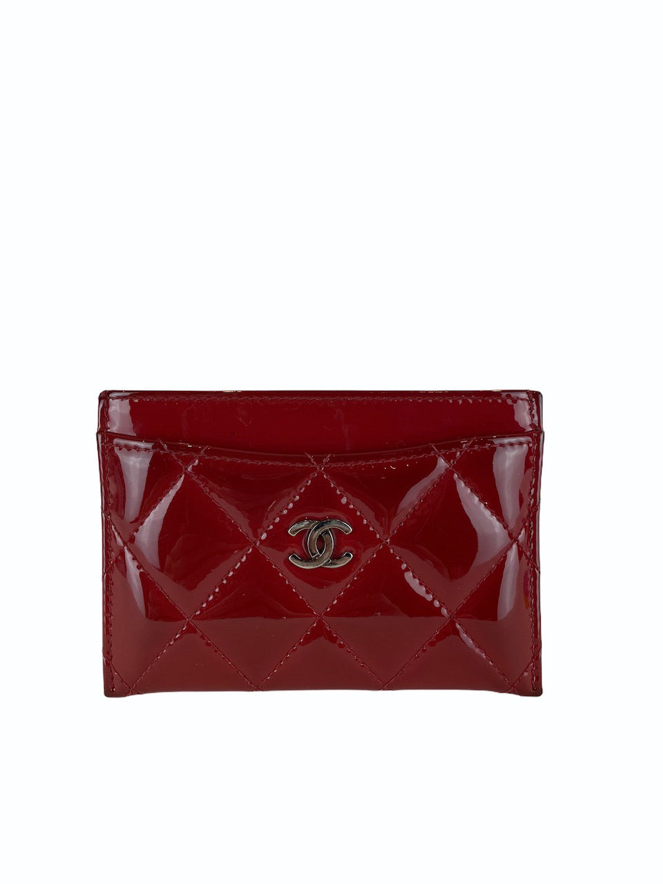 Chanel Red Patent Leather Card Holder