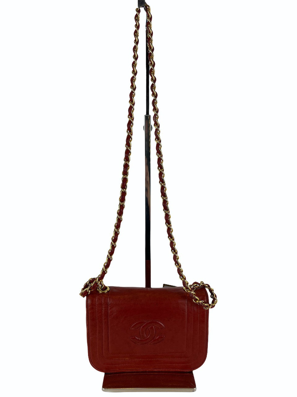 Chanel Red Lambskin Leather Mini Flap Crossbody - As Seen on Instagram 20/09/2020