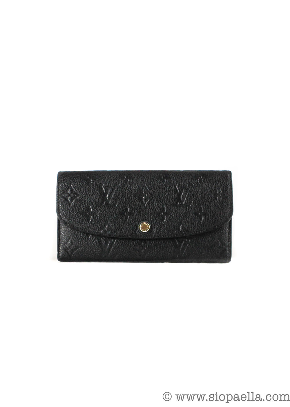 Louis Vuitton Black Leather Monogram