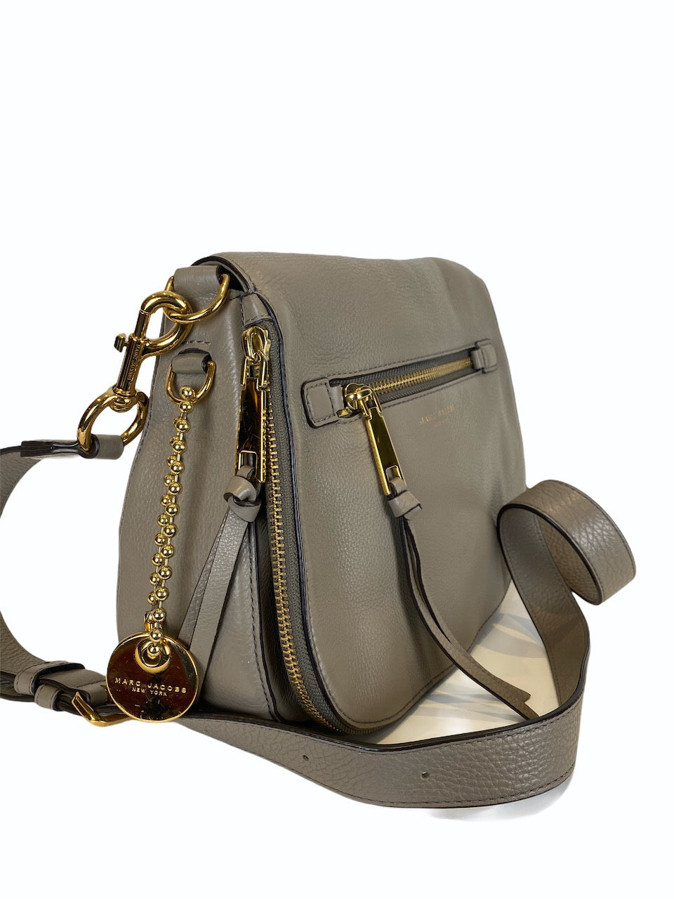 Marc Jacobs Large Grey 'Recruit' Crossbody Bag - As Seen on Instagram 13/09/2020