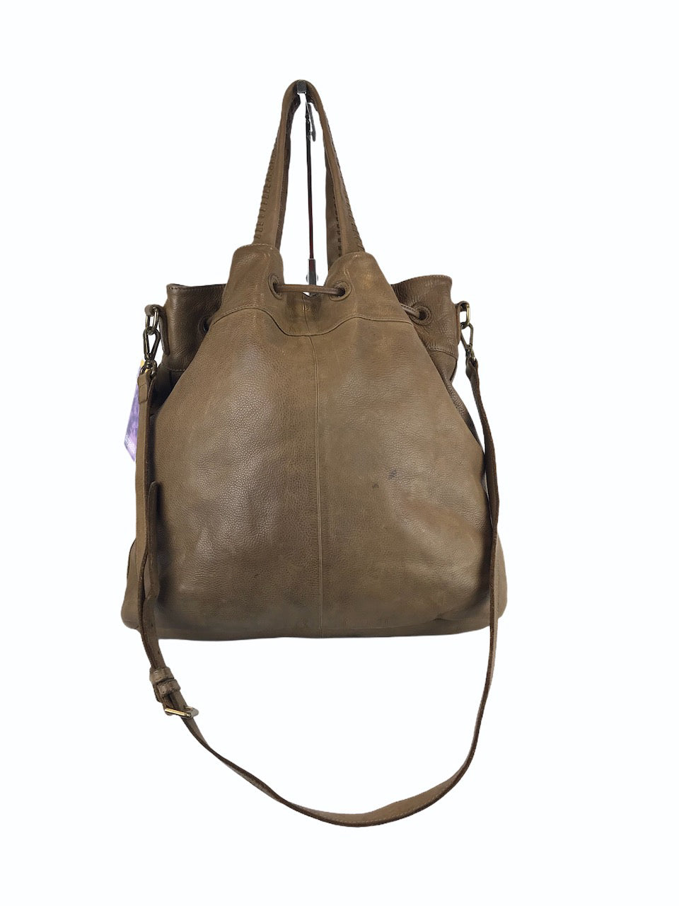 Massimo Dutti Brown Woven Leather Bucket Bag - As Seen On Instagram 09/09/2020