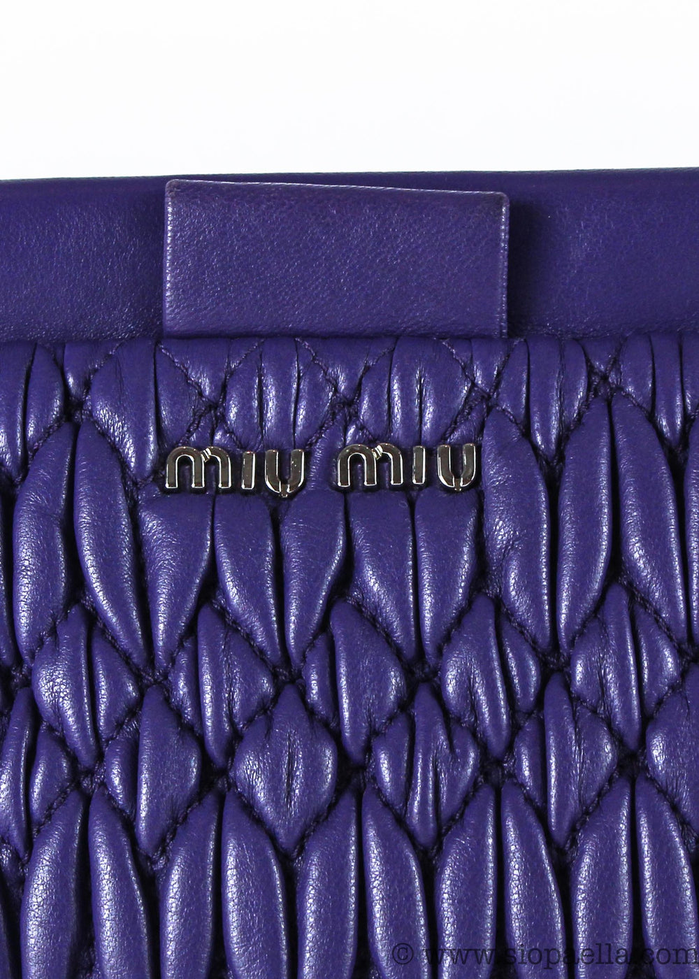 Miu Miu Purple Matelassé Gem Embellished Crossbody - Siopaella Designer Exchange